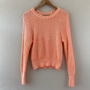 Free People Orange Cream Knitted Pullover Sweater